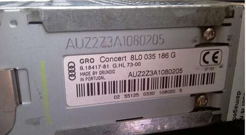 Audi Serial Number