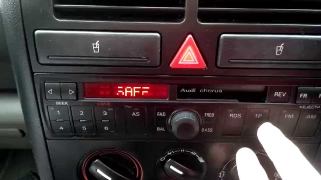 Enter Audi Radio Code